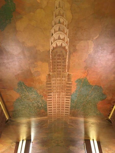 Chrysler building lobby marble artwork