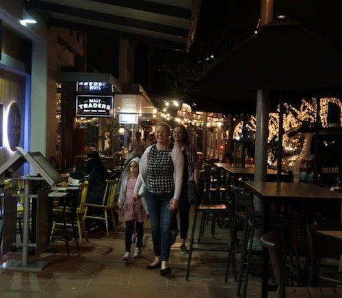 People walking down Little Stanley Street Brisbane