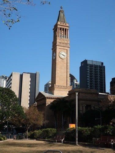 Brisbane City Hall and clock tower