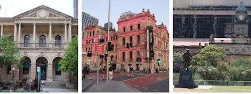 Historic Buildings downtown Brisbane