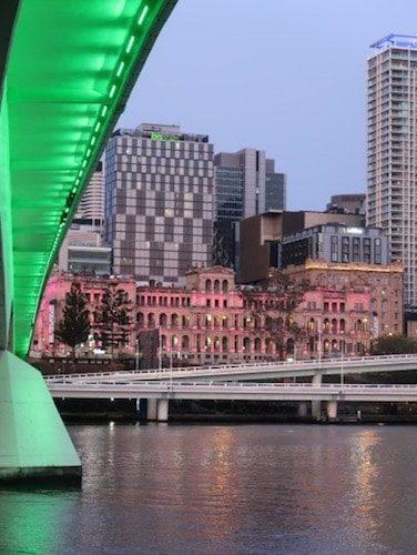 Underneath Victoria Bridge Brisbane Australia