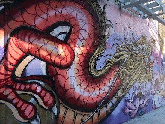 China Town mural san francisco