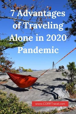 Advantages of Traveling Alone in 2020 Pinterest image