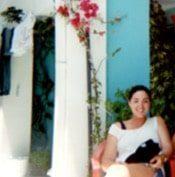 CORR Travel founder in Santorini Greece