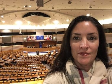 CORR Travel founder in EU parliment brussels belgium