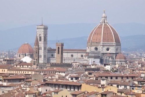 Florence skyline & duomo cityscape Italy