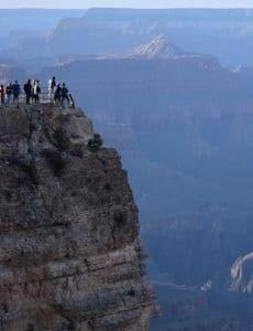 Tourists at Grand Canyon Arizon