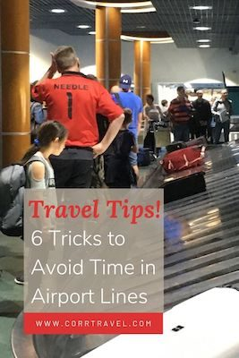 Save Time in Airport Lines: 6 Key Tips Pinterest image
