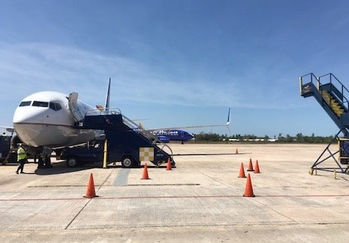 Belize City Airport airplane on tarmac