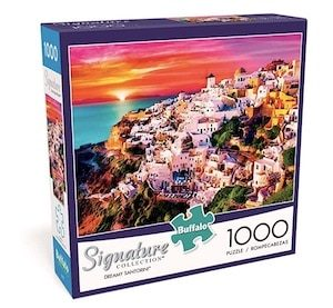 Buffalo Games Dreamy Santorini - 1000 Piece Jigsaw Puzzle