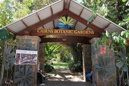 Entrance to Cairns Botanical Gardens Cairns Australia
