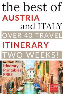 Italy and Austria in 2 weeks Itinerary Pinterest Pin