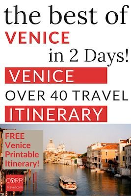 Venice 2 Day Itinerary and Travel Guide Pinterest pin