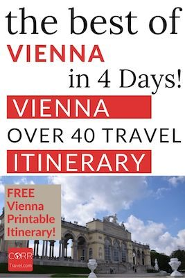 Vienna 4 Day Itinerary and Travel Guide Pinterest Pin
