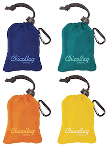 Set of 4 Chico Bags are eco-friendly products for travel