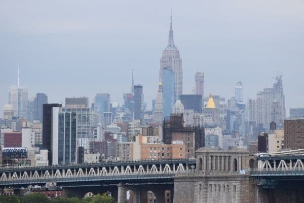 Empire State Builidng and skyline New York City