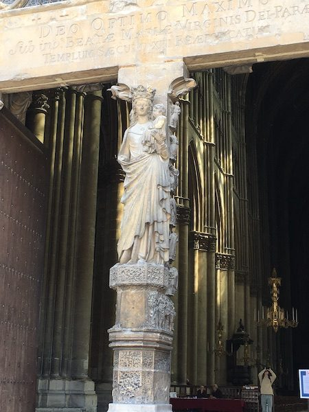 Entry to Reims Cathedral France