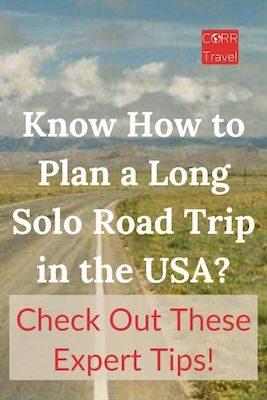 Plan a Solo Road Trip Pinterest image