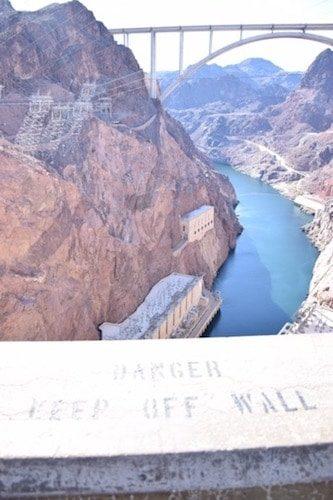 View of Mike O'Callaghan-Pat Tillman Memorial Bridge from Hoover Dam