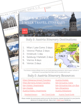 Italy & Austria 2 Week Travel Itinerary-FREE Printable image