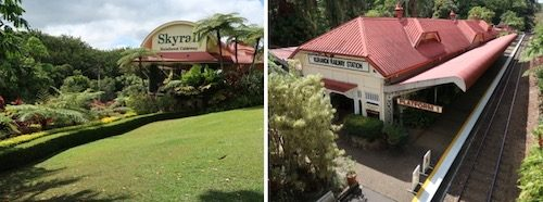 Kuranda Skyrail and Skytrain stations Australia