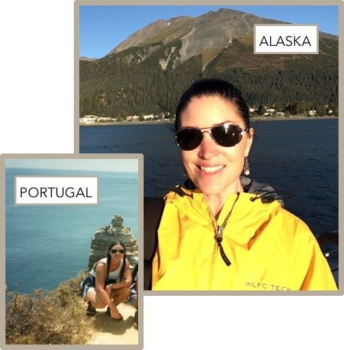 Travel pictures of Corr Travel founder in Portugal & Alaska
