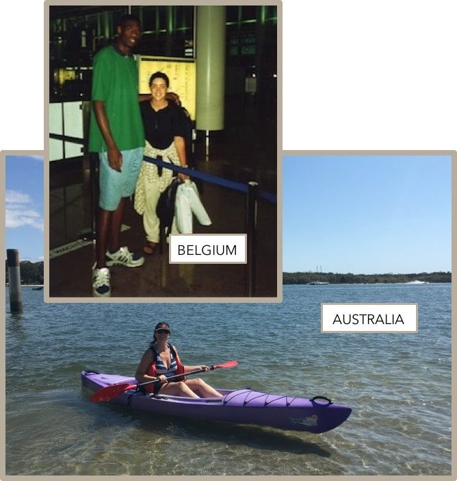 Travel pictures of CORR Travel founder in Belgium and Australia
