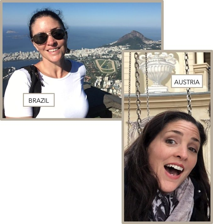 Travel pictures of Corr Travel founder in Brazil & Austria