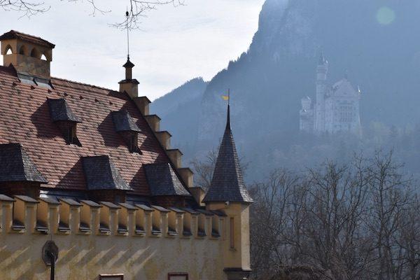 Neuschwanstein castle from Hohenschwangau