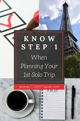 Your First Solo Trip: Here is Planning Step 1 Pinterest image