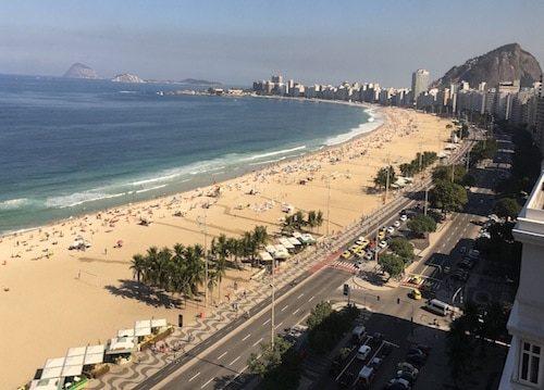 Overlooking Copacabana Beach Rio de Janeiro Brazil in my over 40 solo travel