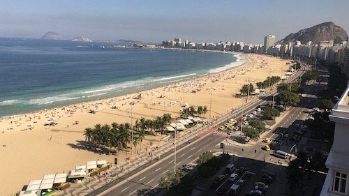 Overlooking Copacabana Beach Rio de Janeiro, a solo travel destination