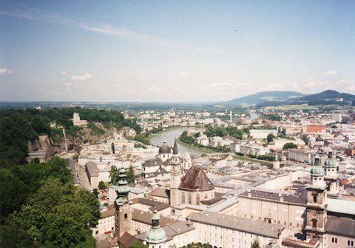 Salzburg Austria skyline