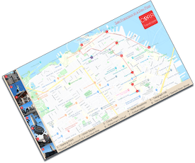 San Francisco Day Walking Map on Foot downloadable map image