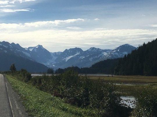 Seward Scenic Highway and mountains Alaska