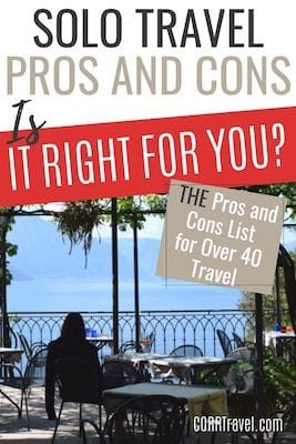 Pros and cons of solo travel for over 40 travel