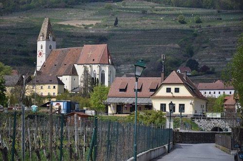 Town of Spitz during Austria Wine Tasting trip