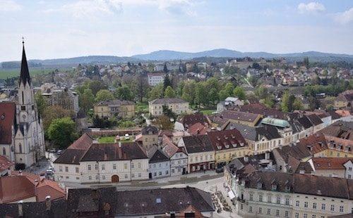 Overlooking Town of Melk Austria