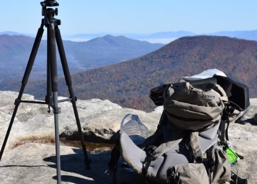 Travel resources tripod and backpack