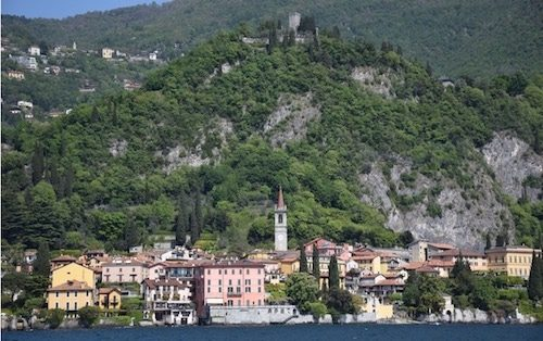 Varenna Lake Como Italy landscape from water