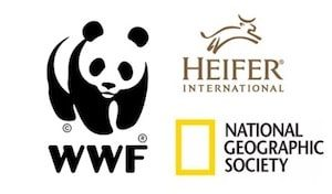 WWF, National Geographic and Heifer logos